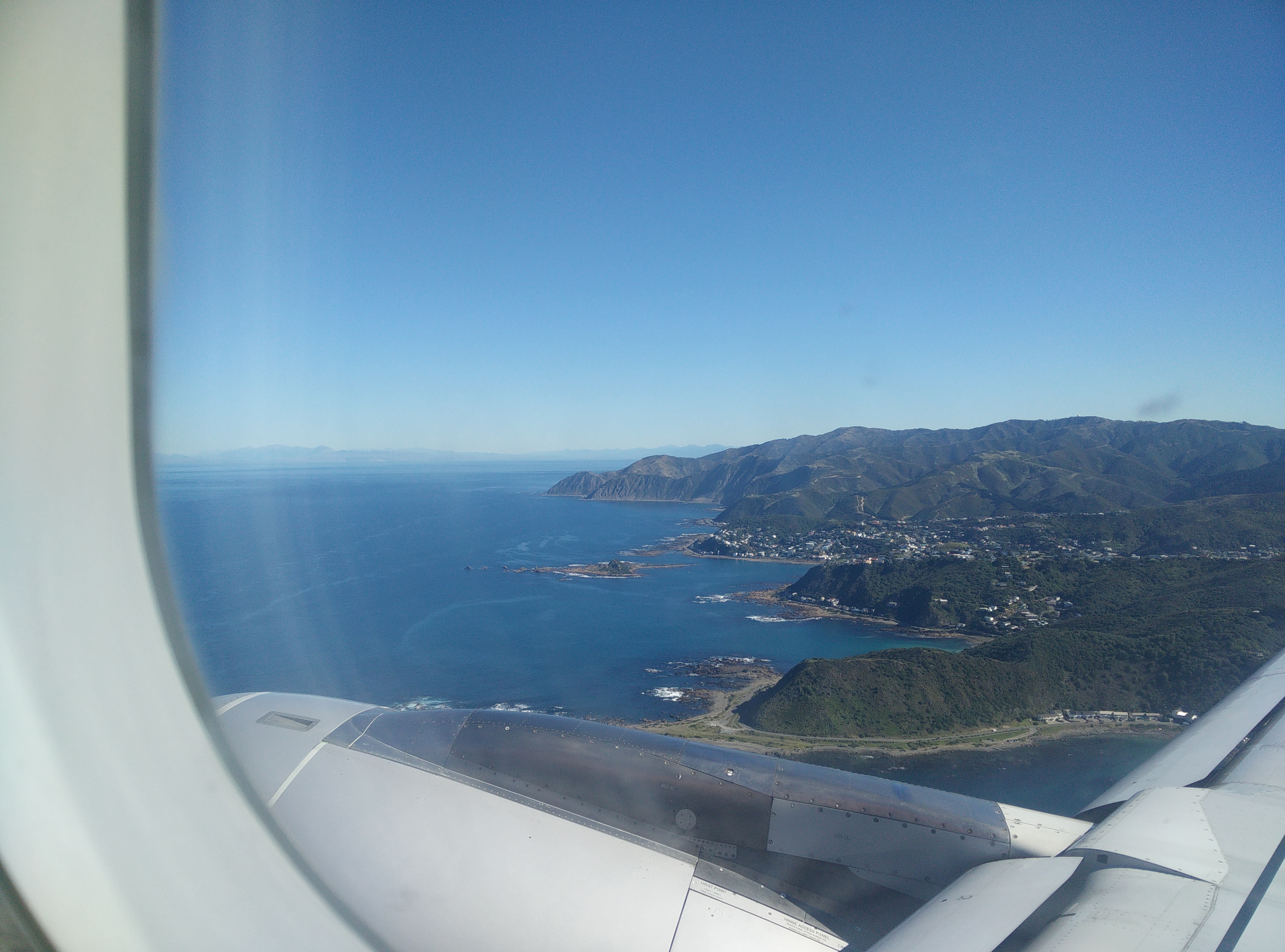 Christchurch from plane window